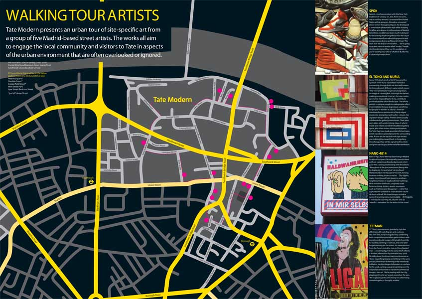 Tate Britain StreetArt-Map